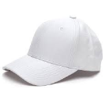 UNISEX PURE WHITE BASEBALL CAP FREEPOST UK